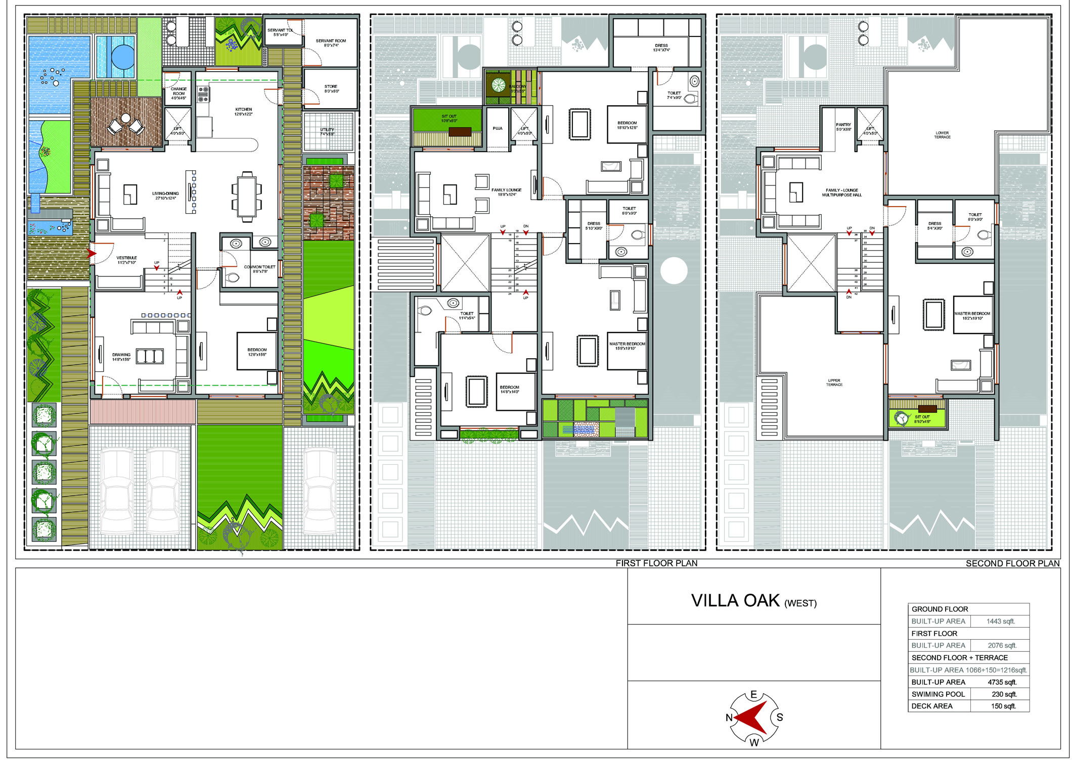 Golf signature villas apollo for Villa floor plans